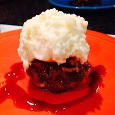 Meatloaf Cupcakes Allrecipes.com - THESE ARE SO CUTE WHEN THE TOPPING IS PIPED ON - AND EVEN BETTER WHEN IT IS COLORED WITH FOOD COLORING - USE INDIVIDUAL MUFFIN CUPS - ADORABLE!