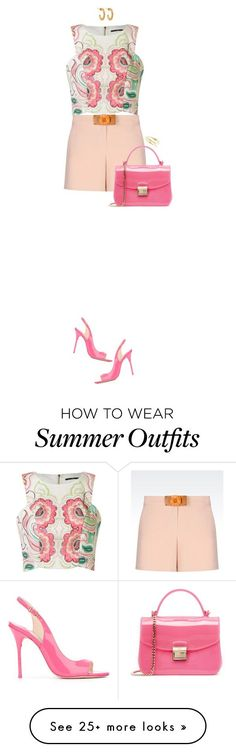 Summer Outfits : Bermuda Shorts For Summer by ittie-kittie on Polyvore featuring Emporio Armani