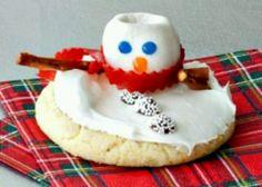 Snow man cookie