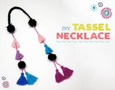DIY Tassel Necklace Craft for Kids   Studio T Blog