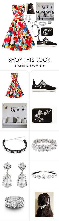 """Sneakers & dresses"" by mynextlife ❤ liked on Polyvore featuring Giuseppe Zanotti, ADZif, Kate Spade, Dolce&Gabbana, Henri Bendel, Kenneth Jay Lane and Witchery"