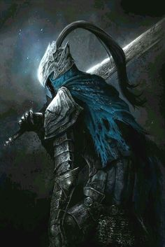 Artorias the Abysswalker Sif Dark Souls, Dark Souls Artorias, Arte Dark Souls, High Fantasy, Dark Fantasy Art, Dark Art, Rpg Cyberpunk, Wolf Knight, Soul Saga