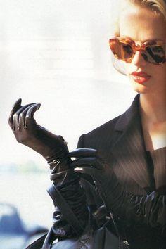 her gloves