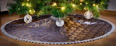 Christmas Holiday Tree Skirt Custom Made by KakaduDesign on Etsy Holiday Tree, Christmas Holidays, Holiday Decor, Christmas Tree, Sewing Studio, Tree Skirts, Custom Made, European Countries, Covered Buttons