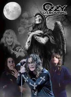 God Bless Ozzy Osbourne, 80s Metal Bands, Metallica Art, Prince Of Darkness, Toned Paper, Vintage Rock, Rock Legends, Types Of Music, Black Sabbath