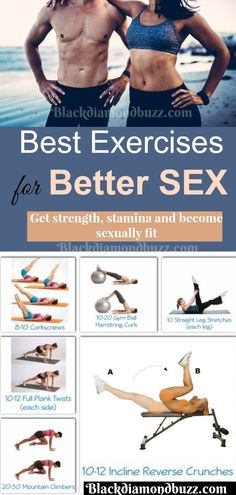 Exercises for Sex - Do you want to increase your strength, stamina and become sexually fit?Then these exercises are to increase blood flow to pelvic area and make your last more with better sex.Now try this exercise for better sex and be better on top.