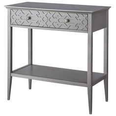 "Threshold™ Fretwork Console Table 30.0 "" H x 31.0 "" W x 14.0 "" D"