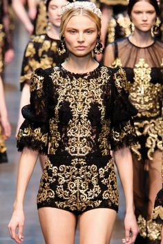 Dolce has been killing it season after season and this season isn't the exception--obsessed with the baroque look <3