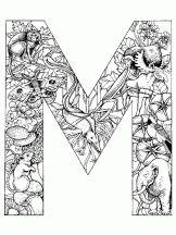 alphabet animal m