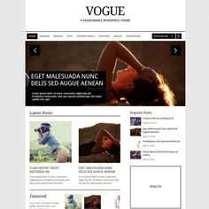 Vogue Responsive Magazine WordPress Theme | WordPress Theme Download