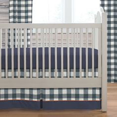 Navy Deer Woodland Crib Skirt Box Pleat made with care in the USA by Carousel Designs. Navy Crib Bedding, Woodland Crib Bedding, Baby Boy Bedding, Best Crib Mattress, Blue Crib, Baby Boy Cribs, Carousel Designs, Crib Skirts, Bedding Sets Online