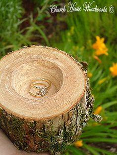 www.Rustic4Weddings.com Wedding Ring Holders For Rustic Weddings