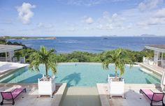 Infinity pool at the Frangipani Villa.