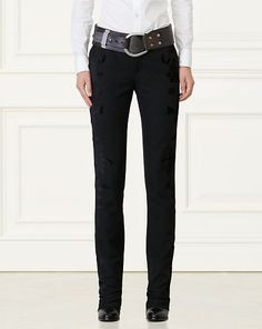 Michaela Flocked Wool Pant - Collection Apparel Pants - RalphLauren.com