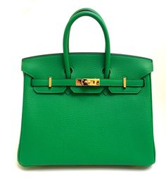 Sacs à main Hermès Hermes Birkin 25cm Bamboo Togo Leather Gold Hardware