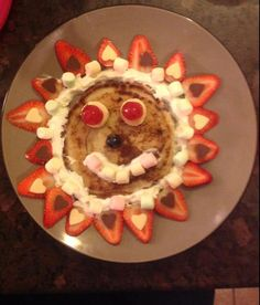 A glorious strawberry sunshine with marshmallow smile. Another fab entry to our #PancakeSelfie made by Karen Robertson. T&Cs apply.