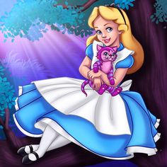 Alice and the Cheshire Kitten by madam-marla on DeviantArt Alice In Wonderland Poster, Alice In Wonderland Pictures, Alice In Wonderland Costume, Disney Fan Art, Disney Fun, Alice Disney, The Cheshire, Disney Wallpaper, Cute Drawings