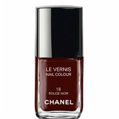 "CHANEL nail color ROUGE NOIR 18 by CHANEL. $59.00. **Long-wearing, high-shine, chip-resistant colour. Chanel Le Vernis 18 Rouge Noir NAIL PLOISH. New in box. ****PLEASE NOTE THIS PRODUCT IS Chanel Le Vernis 18 Rouge Noir ""NAIL POLISH"" even though Amazon system says ""Lip Colour"" in description."