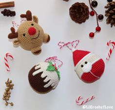 A personal favourite from my Etsy shop https://www.etsy.com/ie/listing/479167306/crochet-christmas-decorations-christmas