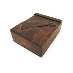 Midcentury High-Relief Carved Wood Box