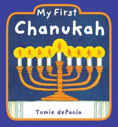 This is an easy Hanukkah craft that almost any age can do! We have been exploring the symbols of Hanukkah with Mary and Amelia. We read My First Chanukah by Tomie dePaula. A nice simple books that covers all the Hanukkah For Kids, How To Celebrate Hanukkah, Hannukah, Hanukkah Crafts, Menorah, Toddler Books, Childrens Books, Simchat Torah, Hanukkah Candles