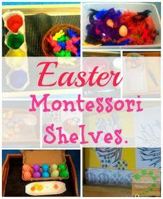 Here are some Easter Montessori shelves activities to… Montessori Education, Montessori Classroom, Montessori Toddler, Montessori Materials, Montessori Activities, Easter Activities, Spring Activities, Kids Education, Preschool Activities