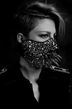Mask with studs & spikes