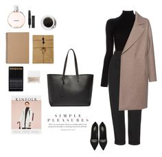 """""""Office"""" by djulia-tarasova ❤ liked on Polyvore featuring Yves Saint Laurent, Chanel, Muji, L'Agence, Topshop, Givenchy, NARS Cosmetics and Harris Wharf London"""