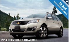 Best Deal Ever!! Great 2014 CHEVROLET TRAVERSE with  amazing discount coupons!!