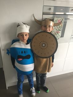 World book day . Mr bump and Hiccup. Very proud my gorgeous boys both won a prize for their costumes !