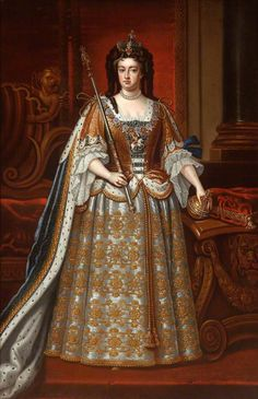 On this day 19th March, 1702,  Ann Stuart, sister of Mary, succeeded to the throne of England, Scotland and Ireland, on the death of King William III of Orange,    Queen Anne (1665–1714)
