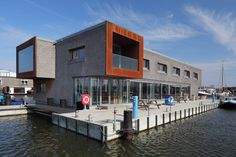 Floating Office for Waternet by Attika Architekten