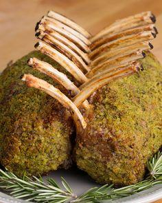Garlic Herb Crusted Roast Rack Of Lamb Recipe by Tasty - Recipes Roasted Rack Of Lamb Recipe, Roast Rack Of Lamb, Crusted Rack Of Lamb, Lamb Rack Recipe, Lamb Recipes, Meat Recipes, Food Processor Recipes, Cooking Recipes, Dinner Recipes