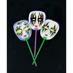 Mardi Gras Mask Fans - OrientalTrading.com  12 @ 5.25