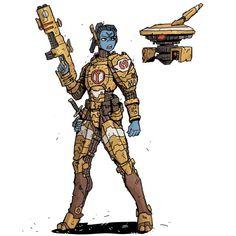 Warhammer 40k Art, Warhammer Fantasy, Fire Warrior, Character Art, Character Design, Tau Empire, Alien Concept Art, Lord, Fantasy Weapons