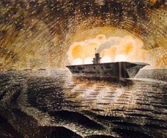 Eric Ravilious was killed on active service during at only Hms Ark Royal, Dulwich Picture Gallery, Visionary Art, East Sussex, Staging, Ww2, Landscape Paintings, Norway, Coastal