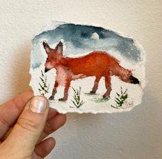 Fox Painting, Social Media Pages, Watercolour Painting, Cheryl, Make You Smile, Moose Art, Original Art, Scrap, Make It Yourself