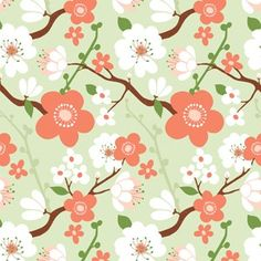 Cherry Blossoms ©Kate Spain, so cute for Girl's Day or a hapi coat