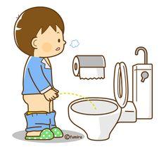 Fazer xixi no banheiro.