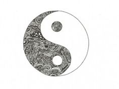Yin yang- maybe a pattern for the yin.