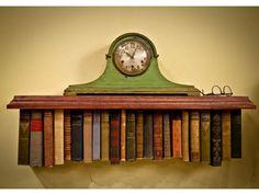A topsy-turvy bookshelf