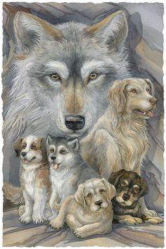 Bergsma Gallery Press::Paintings::Domestic Animals::Dogs::Companions - Prints