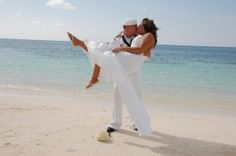 Beach wedding is a definite for dress whites.