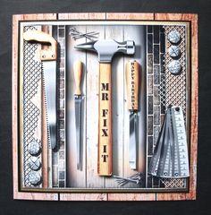 The Carpenter on Craftsuprint - View Now! Carpenter, I Card, Decoupage, Card Making, Handmade, Hand Made, Handmade Cards, Cards To Make, Letter Crafts