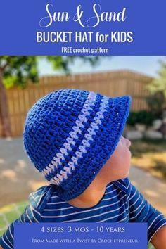 f5bafb9bd70 Super Simple Kid s Sun Hat  Free Crochet Pattern