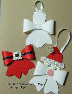 Bow Builder Punch Christmas Ornament ideas.: