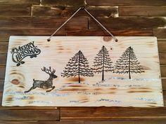 Holiday Reindeer Sign Christmas Wood Crafts, Christmas Decorations, Design Crafts, Reindeer, Holiday, Home Decor, Vacation, Room Decor, Christmas Decor