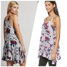 Free People Gray Floral Lace Trapeze Slip Dress Excellent condition. Size XS.  Check out my Closet I love to Bundle Discount ❤️ Free People Dresses Mini