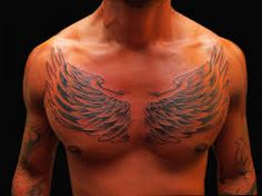 chest wings tattoo - Google Search