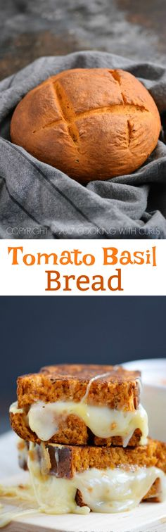 This Tomato Basil Bread is worthy of the finest meats and cheeses to create the ultimate sandwich that will have your co-workers drooling with envy! COPYRIGHT © 2017 COOKING WITH CURLS